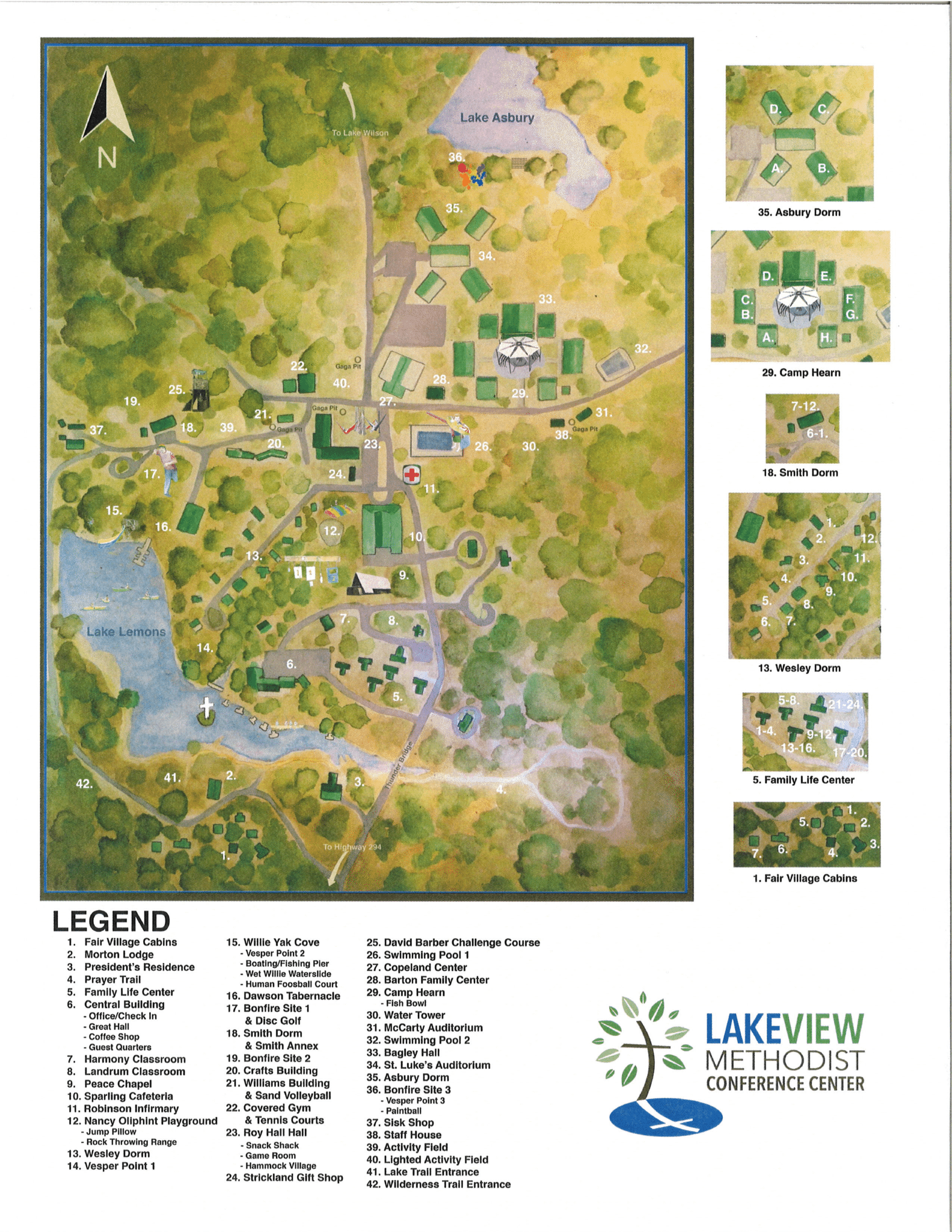 Lakeview Map of Campus